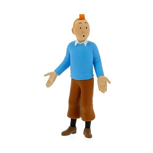 2012 Figura de colección Tintín en Jersey Azul 8,5cm Moulinsart 42502
