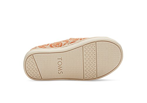 "Toms Orange Rose ""Every Mother Counts"" Burlap Tiny Classic 10010229 (SIZE: 10)"