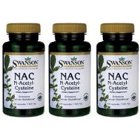 NAC N-acetyl Cysteine 600mg 3 Bottles of 100 Caps Total of 300 Caps by Swanson Carrier to shipping international usps, ups, fedex, dhl, 14-28 Day By Dragon Shopping
