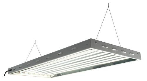 31CVkmMQX2L 4 ft. - 8 Lamp - F95T5-VHO - Fluorescent Grow Light Fixture - Spectralux 6500K Lamps and Wire Hangers Included - Sun Blaze T5 VHO 48