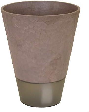 SANKO PRODUCT 木×プラスチック エコポット 匠4号 受け皿付き給水セット ecoチャコール 643_04