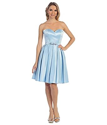 amazoncom unique vintage perry blue strapless sweetheart