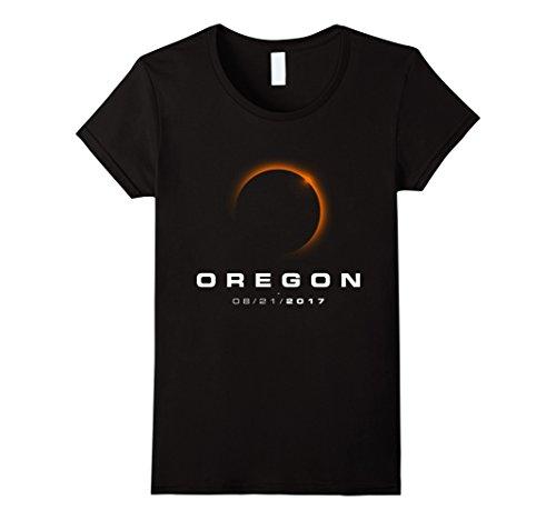 Womens Oregon Eclipse Tshirts   Oregon Total Solar Eclipse 2017 Small Black