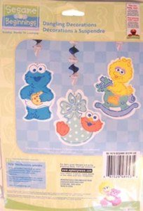 Sesame Street Beginnings Dangling Decorations - 3 Count