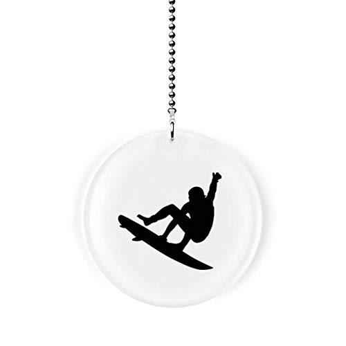 Surfer Silhouette Fan/Light Pull