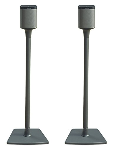 Sanus WSS2-B1 Wireless Speaker Stand Designed for SONOS PLAY 1 and PLAY 3 Speakers 2 Pack Black
