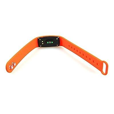 Smart Bracelet , AEDILYS Bluetooth 4.0 Smart Bracelet Smart Band Heart Rate Monitor Dynamic Wristband Pedometer Smart band Bracelet Fitness Tracker for IOS Android - Orange