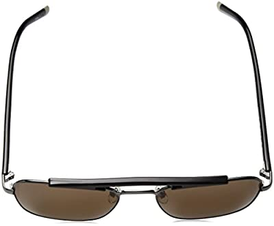 Calvin Klein Men's Ck1221s Navigator Aviator Sunglasses, Gunmetal, 55 mm