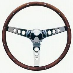 Grant 201 Classic Wood Steering Wheel with Rivets by Grant