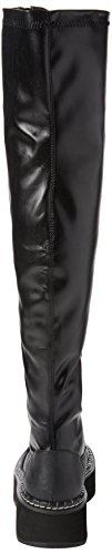 Emily Boots Blk 375 Str Demonia Vegan Leather Black Black Women's 5tFxwg