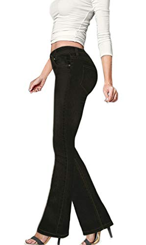 (HyBrid & Company Women's Skinny Bootcut Stretch Pant P31694BLX Black 20)