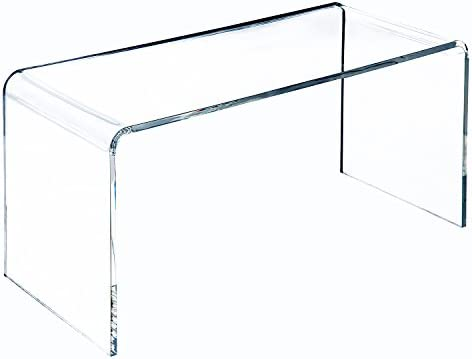 45H cm Homcom x Table Verre Transparent Basse Design Acrylique dim100L 40l x 354ARqjL