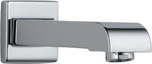 KOHLER K-72791-CP Artifacts Wall-mount bath spout with flare design, Less Handles, Polished Chrome chic