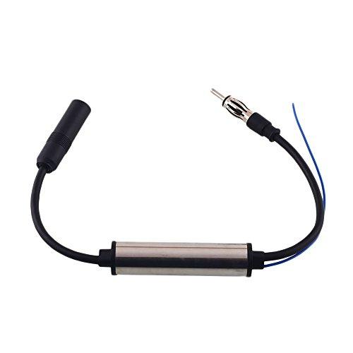 Cewaal antena de coche Radio FM AM InLine amplificador de señal, antena antenas señal de Am Fm Amp Amplificador alambre...