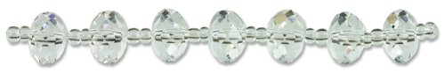 Cousin Crystazzi 6 by 8mm Crystal Rondelle, 7-Piece