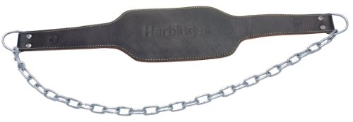Harbinger Leather Weight Dip Belt with 34-Inch Steel Chain