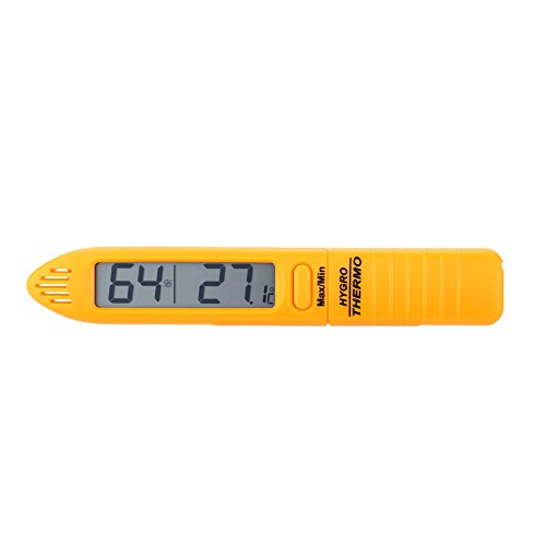 KKmoon Portable Handheld Temperature Humidity Meter Tester Mini Thermometer Hygrometer 50°C Yellow