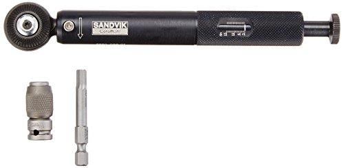 Sandvik Coromant 5680 099-01 Assembly Item, Torque Wrench, Adjustable, 3 Nm-15 Nm, 1/4'' Square Drive, Use with 5 mm Hex Bit by Sandvik Coromant