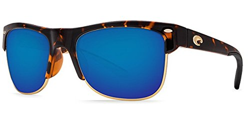 Costa Del Mar PW66OBMP Pawleys Sunglass, Retro Tortoise Frame Blue Mirror by Costa Del Mar