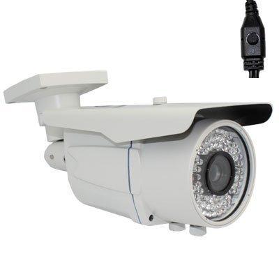 GW Security 1200TVL Outdoor CCTV Bullet Security Camera with 6-22mm Varifocal Lens and 72pcs IR LED, 200ft IR Distance