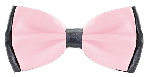 Flairs New York Little Gentleman's Kids Bow Tie (Flamingo Pink/Black [2 Tones])]()