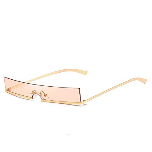 SFNJL Fashion Sun Glasses Square Small Frame Metal Eyeglass Decorative Hd Glasses (Flesh Frames Eyeglasses)