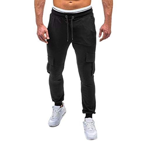 invierno Otoño Chándal Estilo Los La Negro Holgados Y Moda Pantalones Vaqueros Grueso De Ocasionales Del Paño Hombres Simple Suave a5xqTw