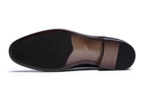 Cuero Patente de Brown Zhuxin Retro de Zapatos 45 Vestir Zapatos de de de Completo para Grano Size Hombres Oxford Negocios Black EU de Color Cuero de Fq0O6