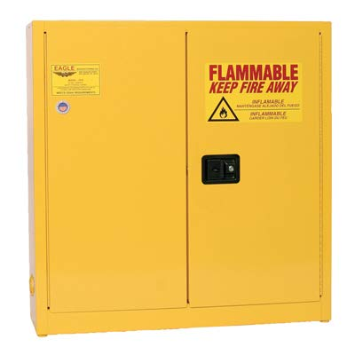 (Eagle 1975 Safety Cabinet for Flammable Liquids, 2 Door Self Close, 24 gallon, 44