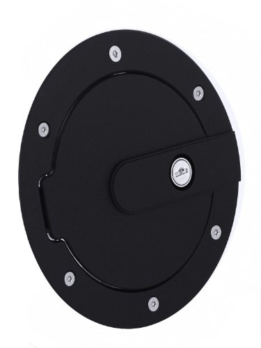 - AMI 6070KL AMI Race Style Billet Fuel Door 7'' Ring O.D. 5 1/8'' Door O.D.-Flat Black Ring and Locking Door, 1 Pack