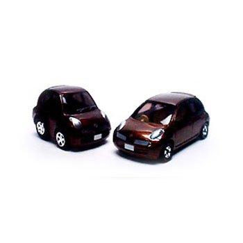 日産 マーチ(ブラウン) 2台セット 「トミカ&チョロQ 日本の名車 No.7」 トイズドリームプロジェクト限定