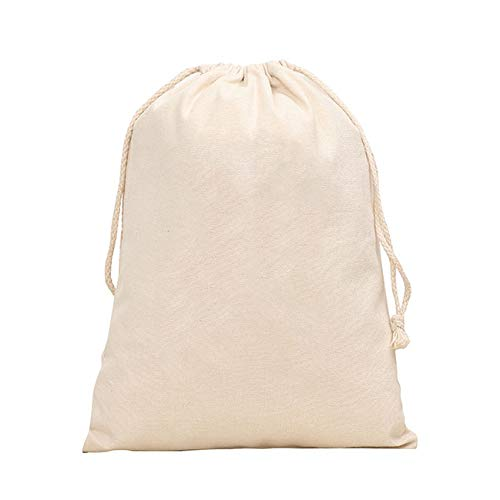 Afco Travel Drawstring Bag Laundry Toy Stuff Plain Xmas Sack Stocking Storage Pouch 1216cm