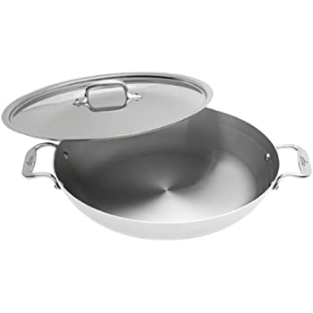 Amazon Com All Clad 5413 Stainless Steel Paella Pan With