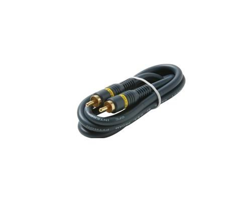 Black Point Products BA-130 Gold 1-RCA Python Cable, 3-Foot