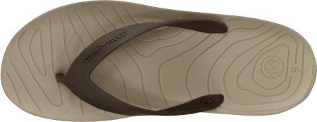 Ocean Minded Mens Manaia II Flip Sandal, Khaki/Espresso, M8
