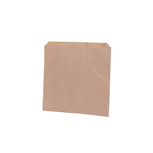 BIOZOYG Papel marrón Bolsa Plana I Bolsas de Papel Snacks 17,5 x 17,5 cm I Papel Reciclado 100% Biodegradable I Bolsa Bocadillos sin blanquear I Bolsa ...