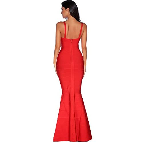 4444d1f3d594f Meilun Women s Maxi Bandage Dress Fishtail Bodycon Formal Evening Dresses  low-cost