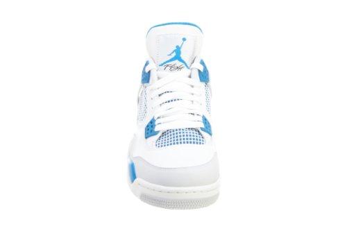 Aria Nike Jordan 4 Retrò Militare Bianco / Militare In Pelle Blu