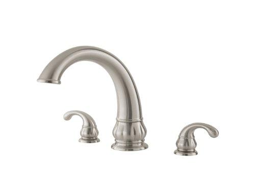 Price Pfister Treviso Brushed Satin Nickel Roman Garden Tub Faucet