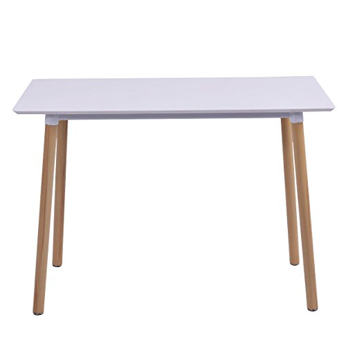 giantex white writing desk computer table home office furniture workstation learning