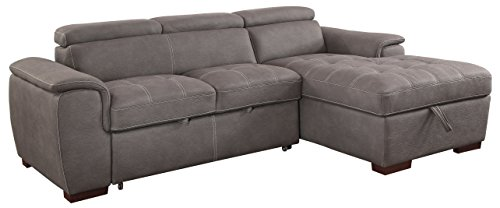 HOMES: Inside + Out IDF-6514BR-SEC Crowley Sectional Recliner, Brown Review