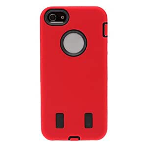 Defender Series Hybrid Hard Case with Silicone Coat for iPhone 5/5S (Optional Colors) , White