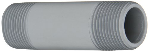 GF Piping Systems CPVC Pipe Fitting, Nipple, Schedule 80, Gray, 5 Length, 1 MPT