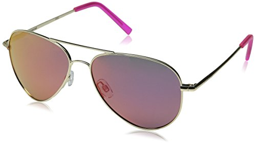 - Polaroid Sunglasses PLD6012N Polarized Aviator Sunglasses, Gold/Brown Mirror Polarized, 56 mm