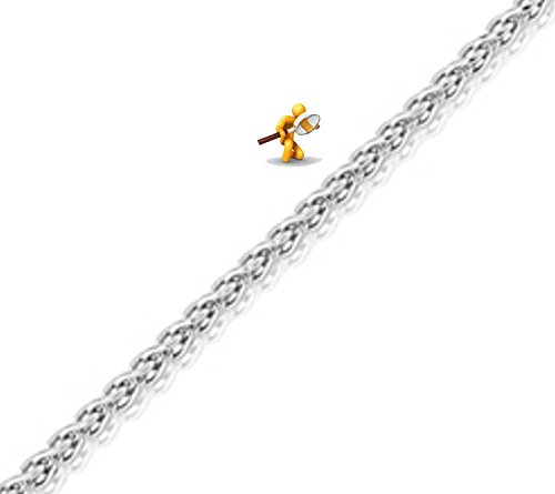 "lakama or blanc 18carats, robuste Spiga chaîne 40,6cm/40cm-18""/45cm"