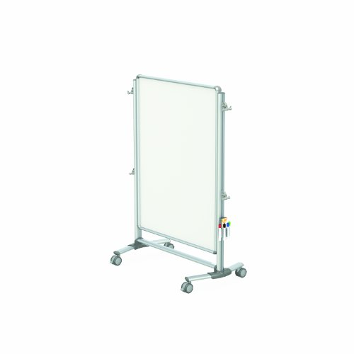 Ghent 57-3/8'' x 40-3/8'' Nexus Jr. Partition, Mobile Porcelain Magnetic Whiteboard, Double-Sided (NEX223MMP) by Ghent