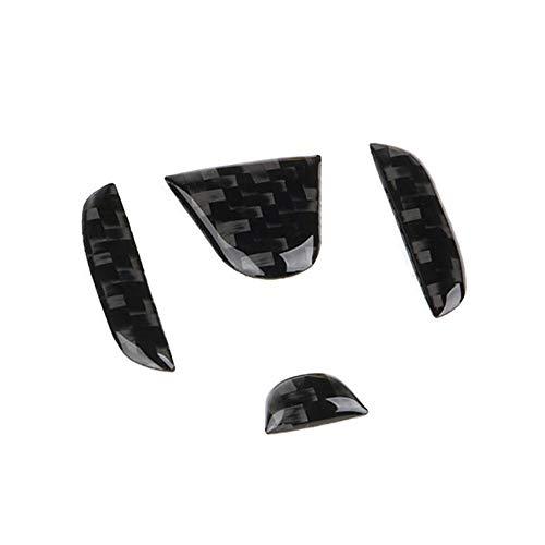 TopDall Carbon Fiber Steering Wheel Center 3D Sticker Cover Trim For Honda Civic 2016-2019 ()