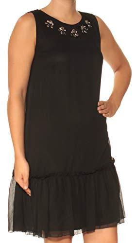 Embellished Drop Waist Dress - Tommy Hilfiger Embellished Drop-Waist Keyhole Shift Dress Black 18