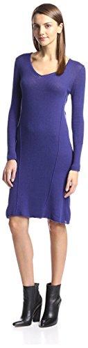 Cashmere Addiction Women's Swing Sweater Dress, Sapphire, M