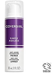 COVERGIRL, Simply Ageless Oil Free Serum Primer for an Age-Defying, Never Pore Clogging Start to Your Makeup Routine, 1 ounce, 1 Count (packaging may vary)